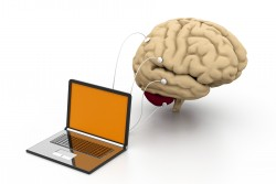 Brain linked to laptop for neurofeedback